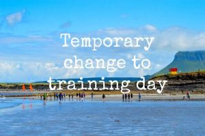 Temporary change to Nippers training this week