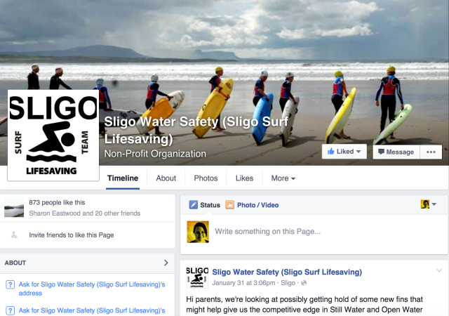 Sligo Surf Lifesaving Club Facebook page