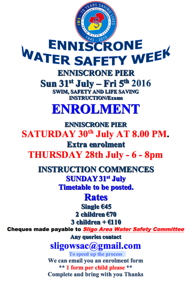 Enniscrone Water Safety Week 2016