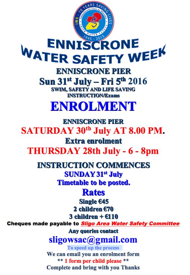 Enniscrone Water Safety Week 2016