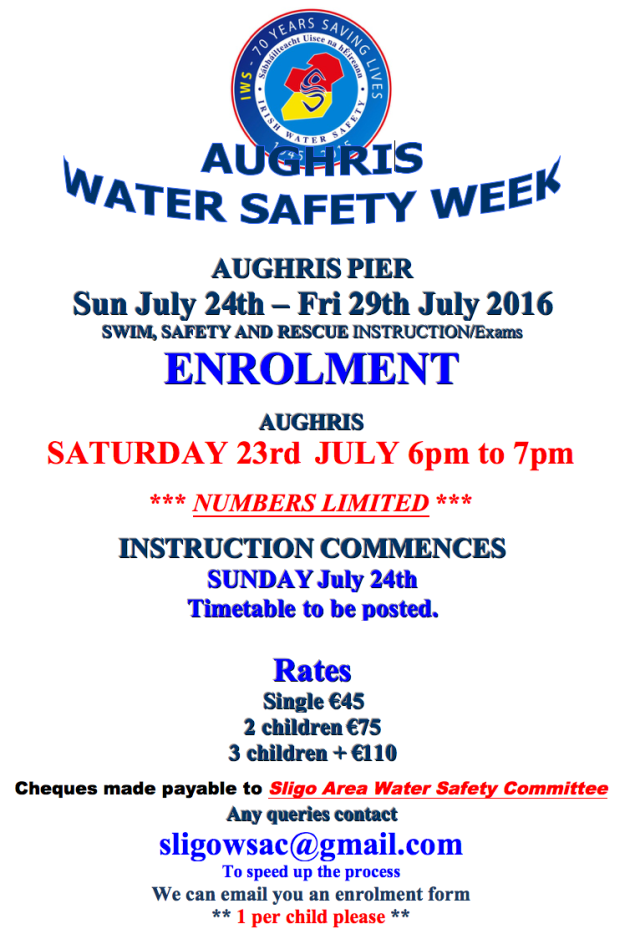 Aughris Water Safety Week Sligo 2016
